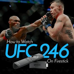 UFC 246 On Firestick