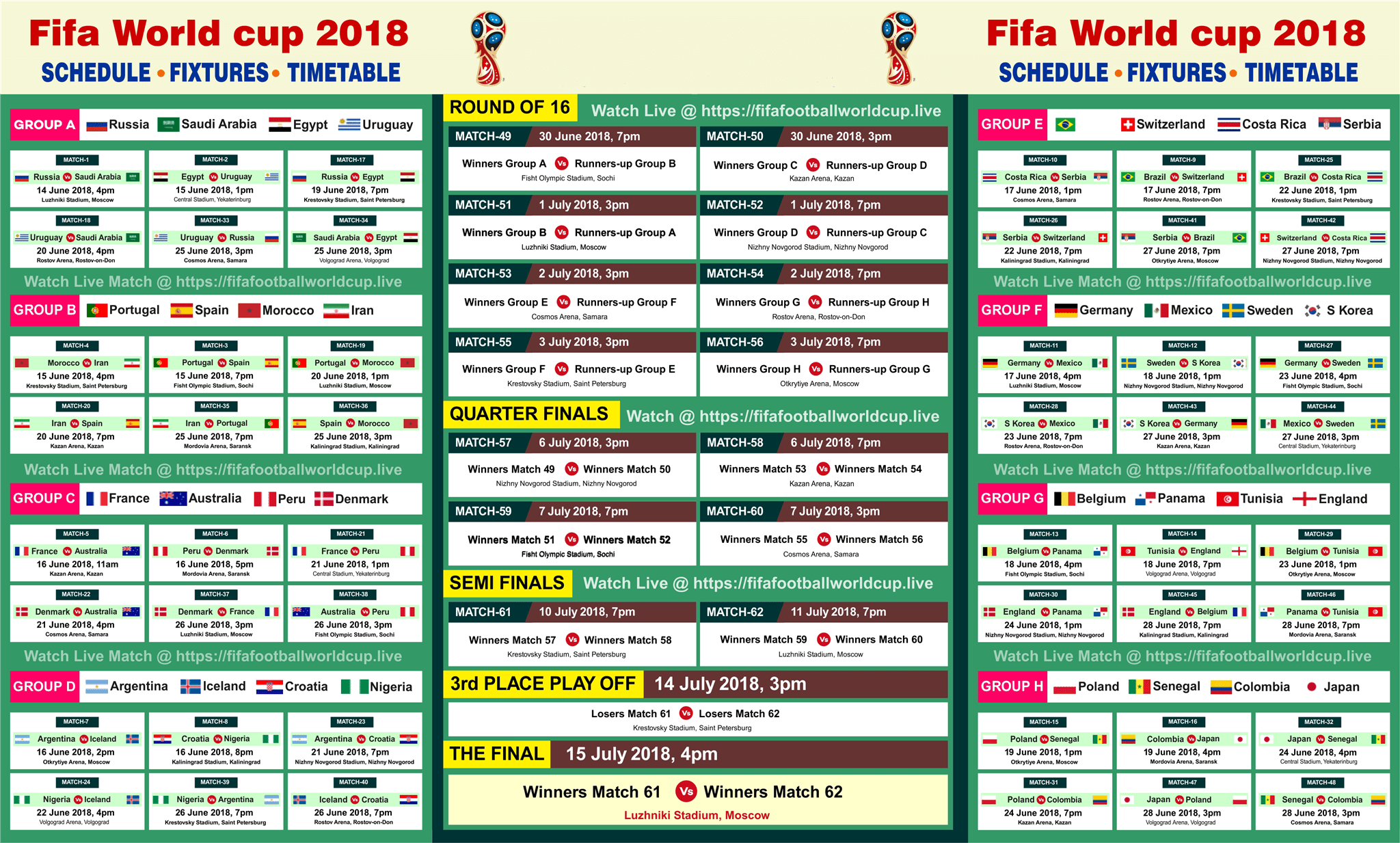 watch fifa world cup 2018 live online