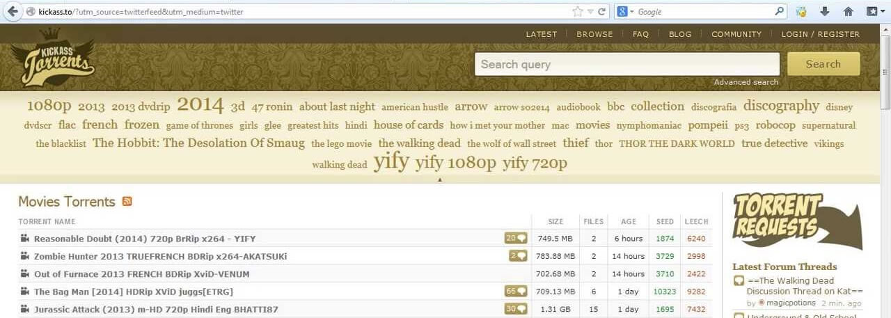 KickassTorrents - Kickass Torrents Alternatives