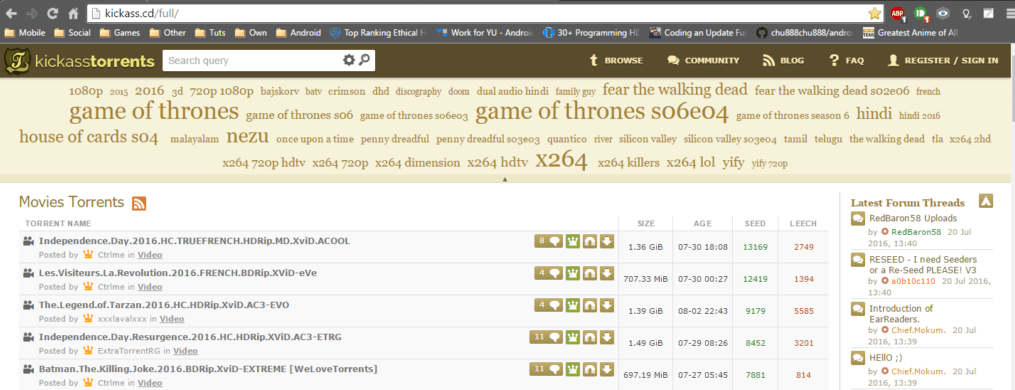 Kickass.cd - Kickass Torrents Alternatives