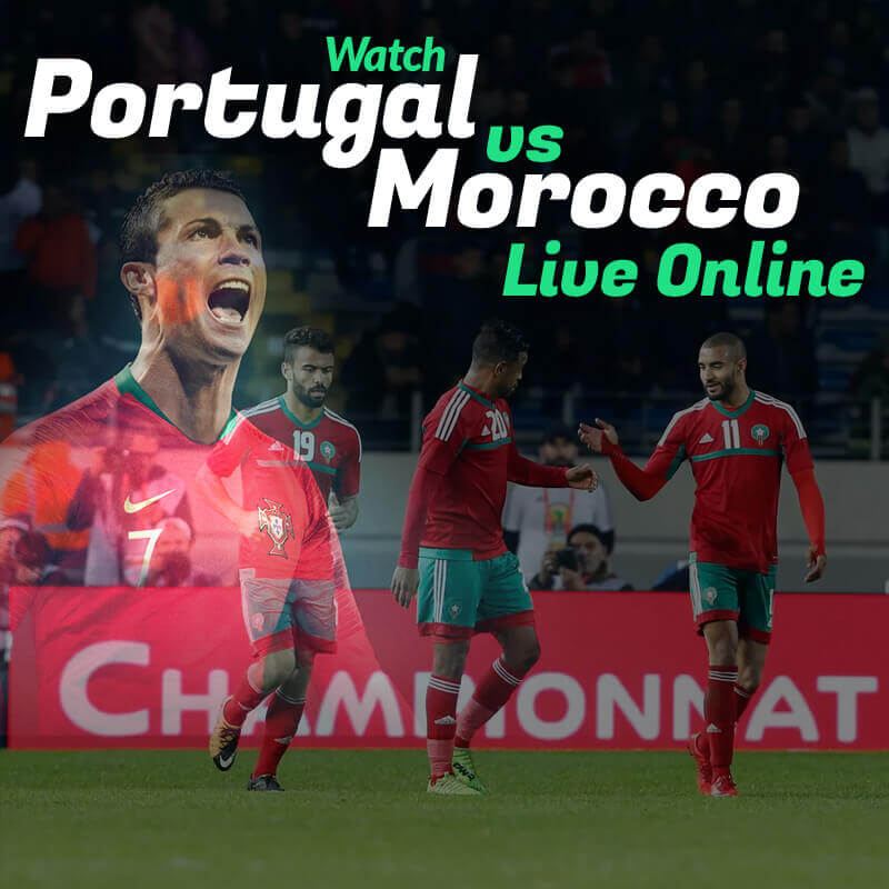 portugal vs morocco live streaming