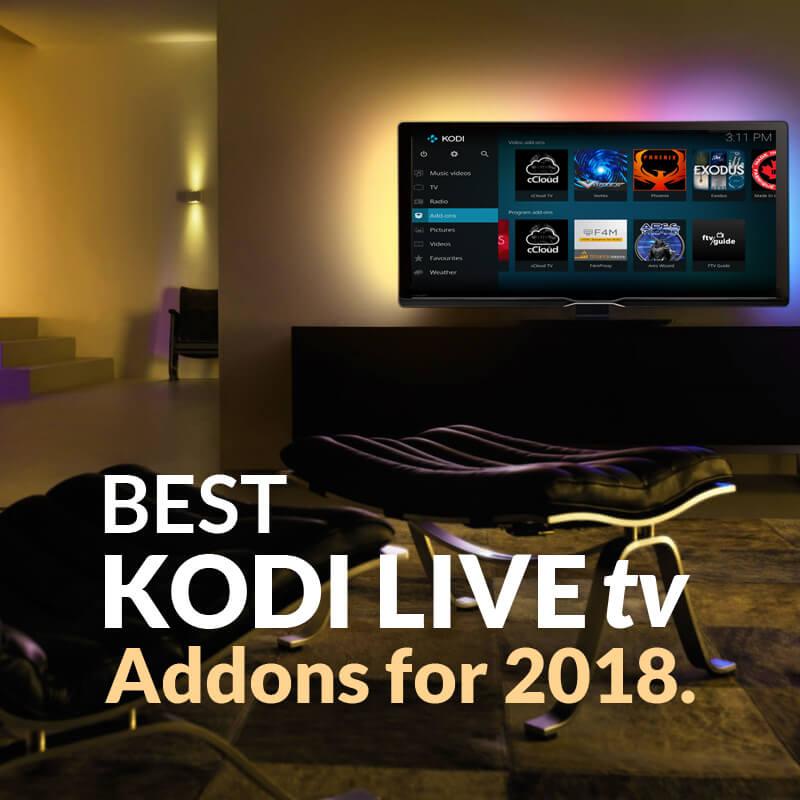 kodi live tv addons