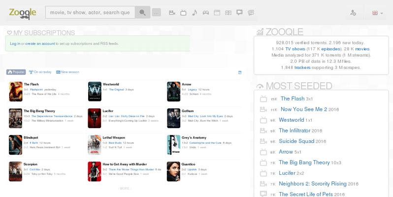 zooqle - Piratebay Alternatives