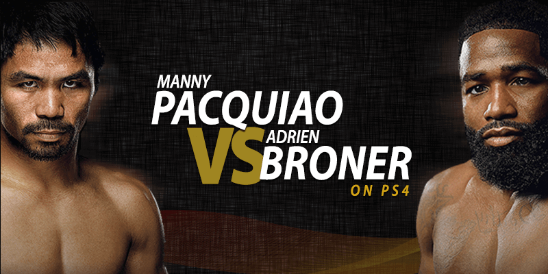 manny pacquiao vs adrien broner on ps4