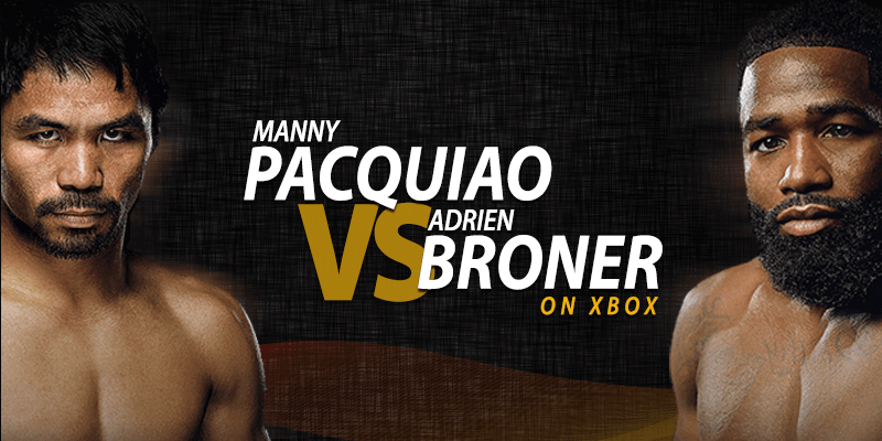 manny pacquiao vs adrien broner on xbox