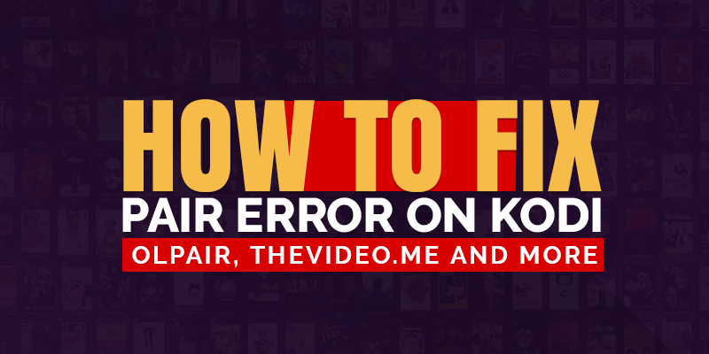 fix pair error on kodi