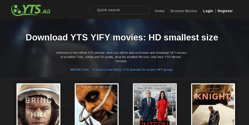 YTS- Piratebay Alternatives