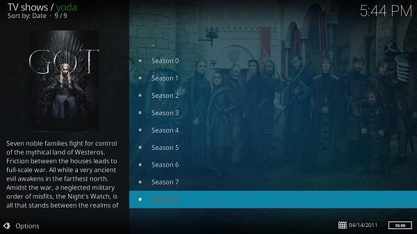 game of thrones season 8 live online on kodi