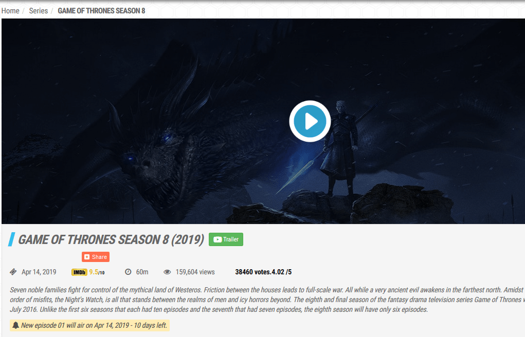 go movies game of thrones season 8 live online