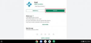 Kodi update on Play Store