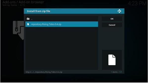 install zip file 1