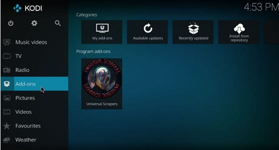 Kodi back to Home Screen