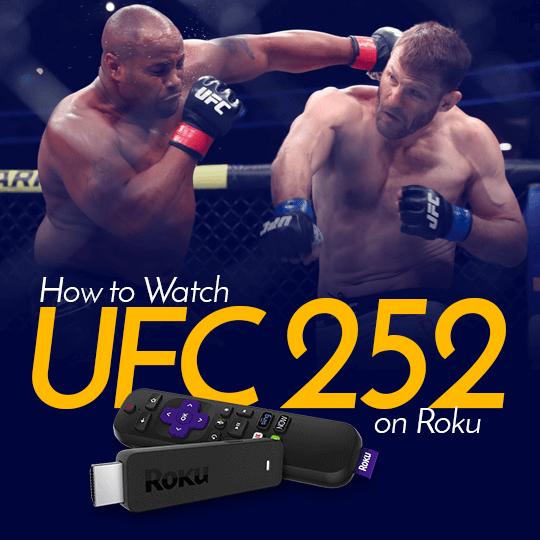 UFC 252 on Roku
