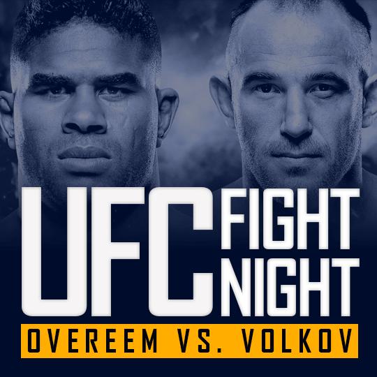 UFC Fight Night - Overeem vs Volkov