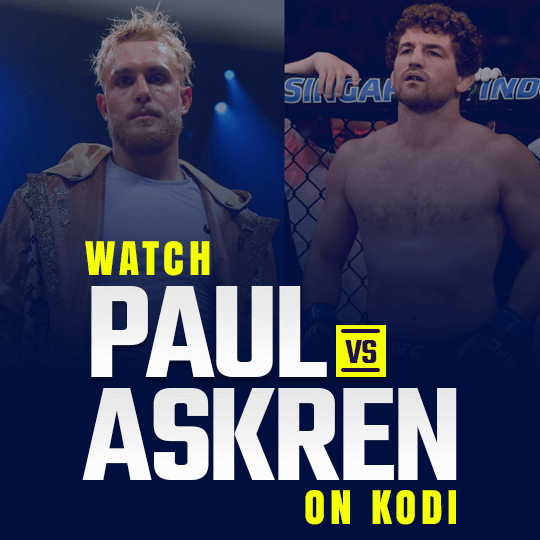 Watch Jake Paul vs Ben Askren on Kodi