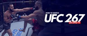 Watch UFC 267 on Apple TV